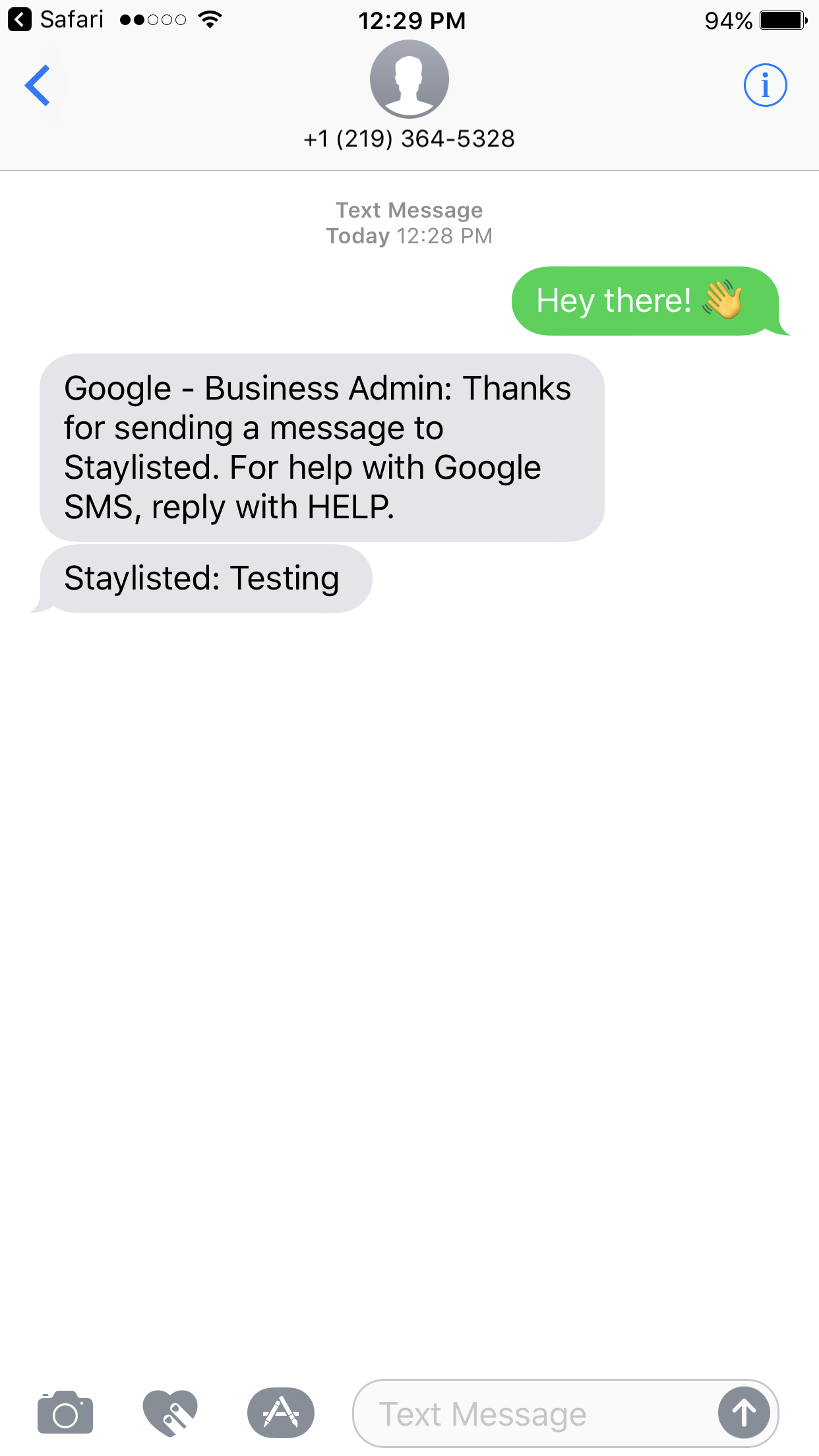 Google Messaging Reply Name