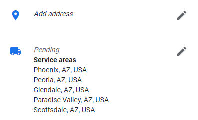 Google My Business Service Area Addtion