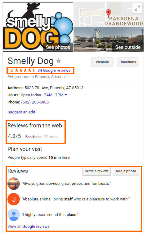 Google Listing and Reviews