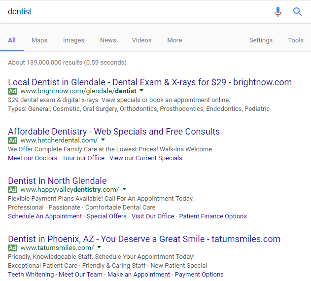Google Organic Section