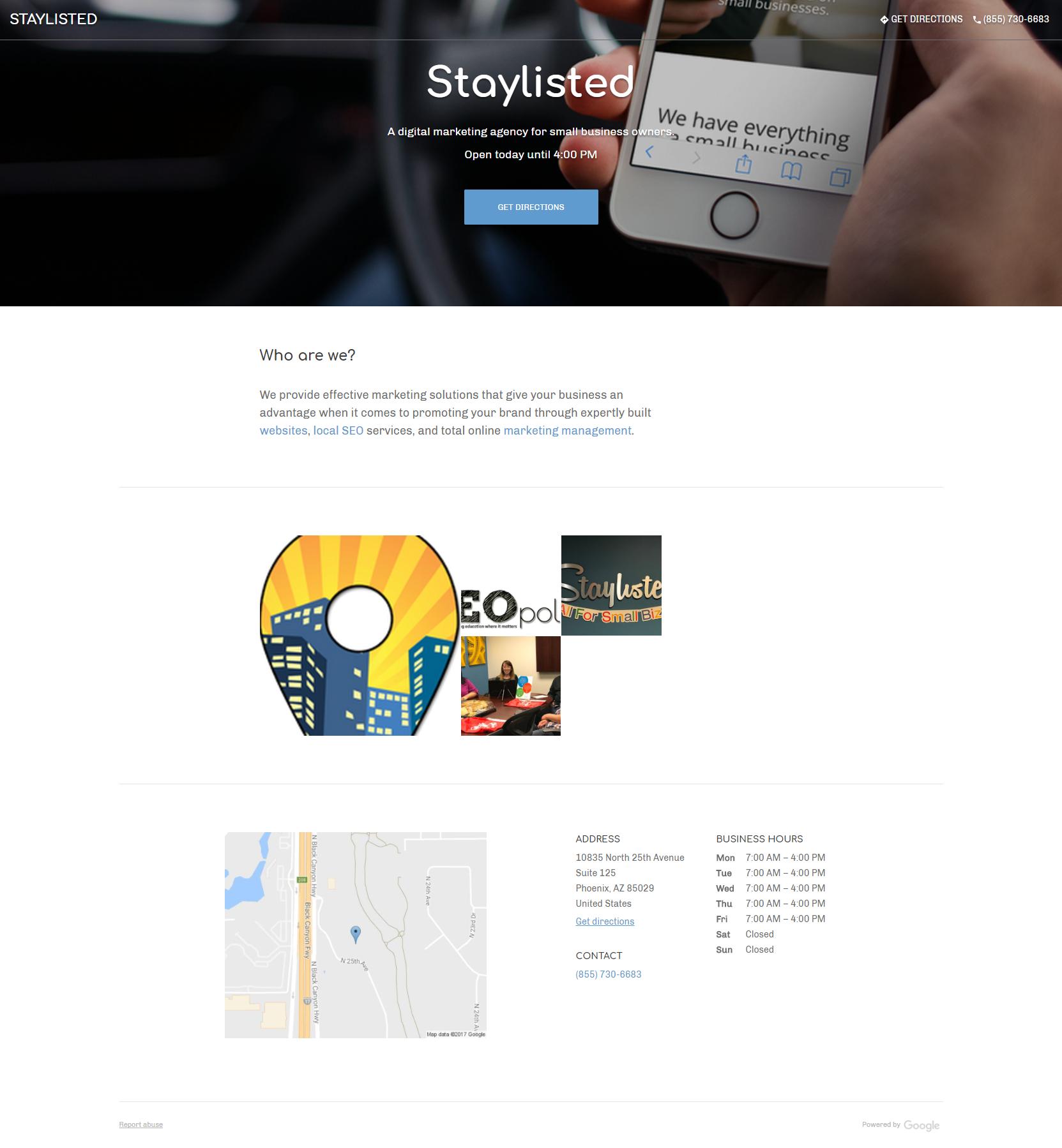 Staylisted Google Website