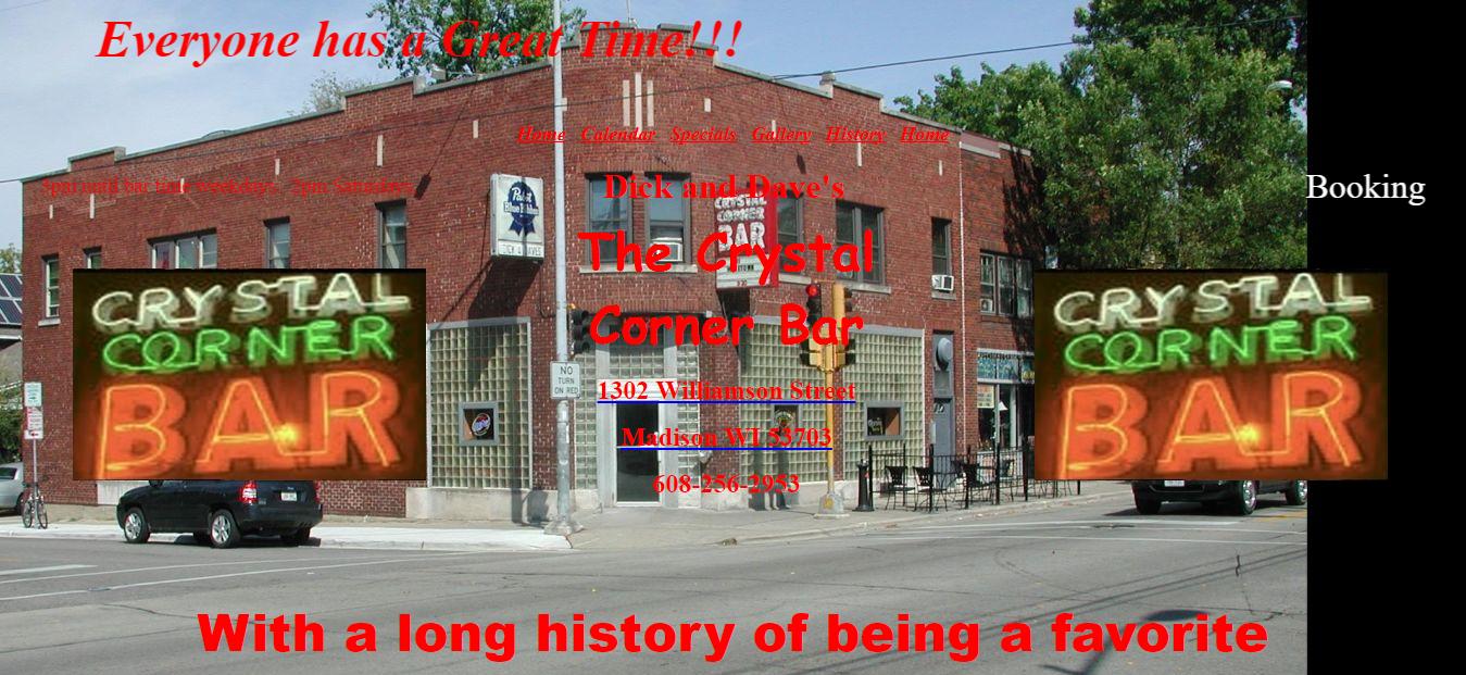 Crystal Corner Bar Website