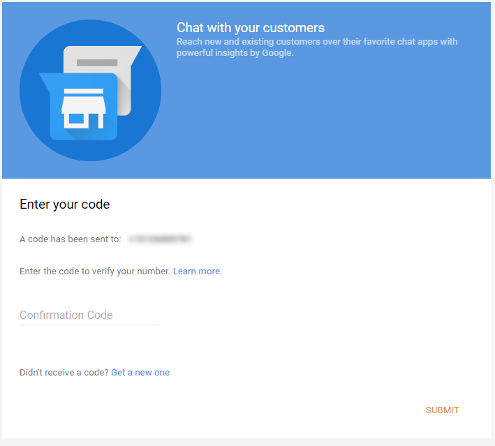 Google Messaging Confirmation