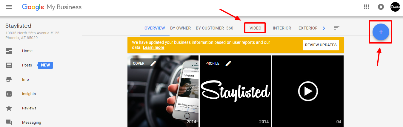 Staylisted Google My Business Video Support